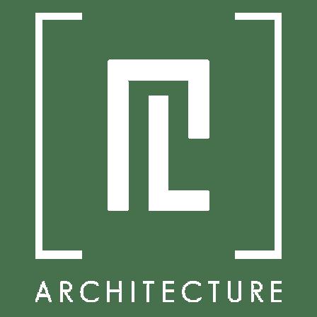 logotipo PL Architecture blanco