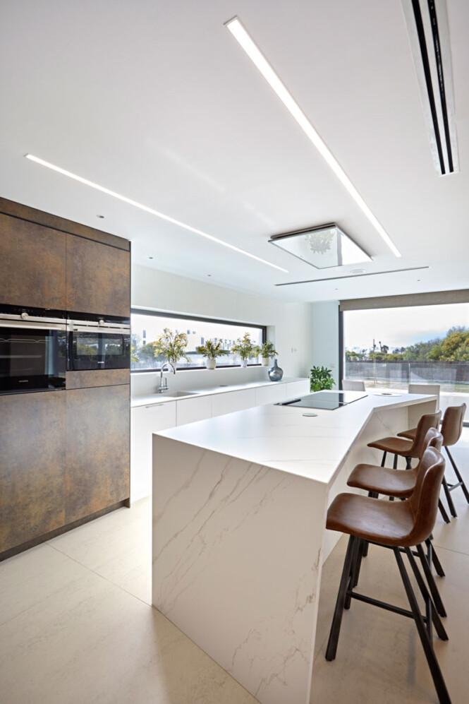 Zona de asiento en cocina de casa Figueredo